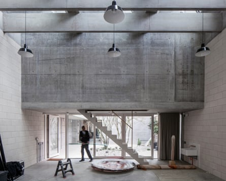 'Concrete floors, walls, ceilings, stairs, paving and a strong rhythm of concrete beams': 6a architects' 'apparently simple' design for Juergen Teller's studio.