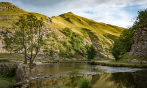 Dovedale National Nature Reserve in the Peak District, Derbyshire, England.