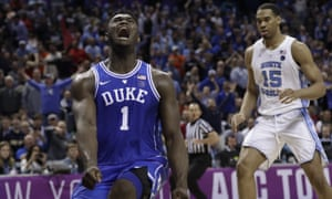 Zion Williamson is almost certain to be the No1 overall pick in this year's NCAA Tournament