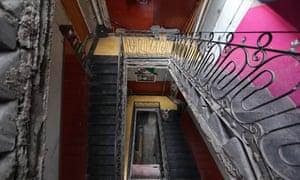 """La escalera que conduce a la azotea de República de Brasil 42, tal como se ve hoy. Salvador Novo escribió sobre la vida en la azotea en su autobiografía """"La estatua de sal"""".<br>"""