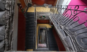 The stairway leading to the azotea at Brasil 42, as it looks today.