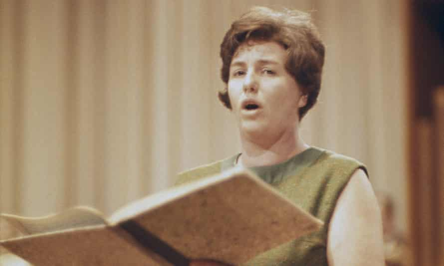 Heather Harper rehearsing in the early 1960s.