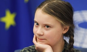Greta Thunberg at the European parliament