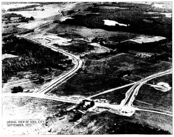 An aerial view of Soul City in 1975.