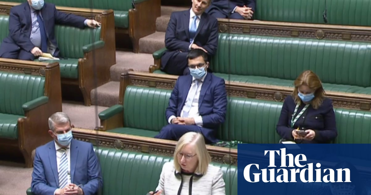 Tory MPs appear to heed Javid call to set example by wearing masks
