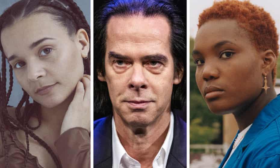 (L-R) Erika de Casier, Nick Cave and Arlo Parks.