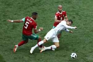 Ronaldo goes down after the tackle from Benatia.