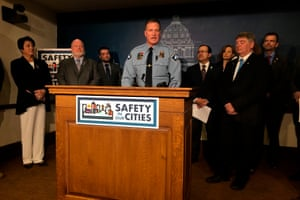 Bob Kroll, president of Minneapolis Police Federation, Lt. speaks at a news conference in St. Paul, Minnesota.