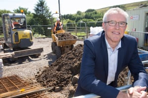 Believe Housing, Chief Executive, Bill Fullen, on site in Rookhope, a remote North Pennines village where believe housing constructed the first new affordable homes in more than 50 years.