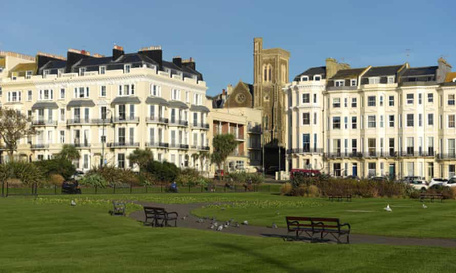 Houses in St Leonards in Warriors Square, East Sussex