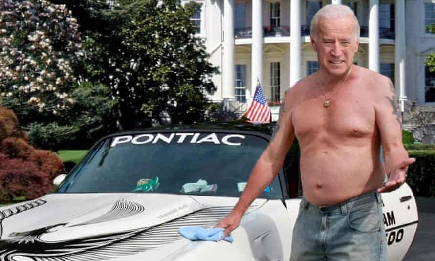 Joe Biden on the cover of the Onion's President of Vice spoof.