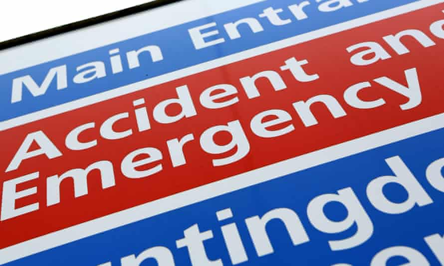 Accident and Emergency department at an NHS hospital