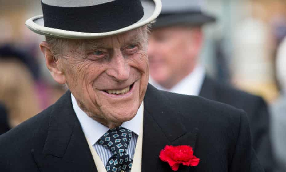 Prince Philip at Buckingham Palace in 2017