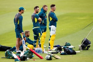 Australia's batsmen consider their options ahead of their blockbuster clash with India.
