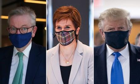 Gove, Sturgeon and Trump … rocking the look.