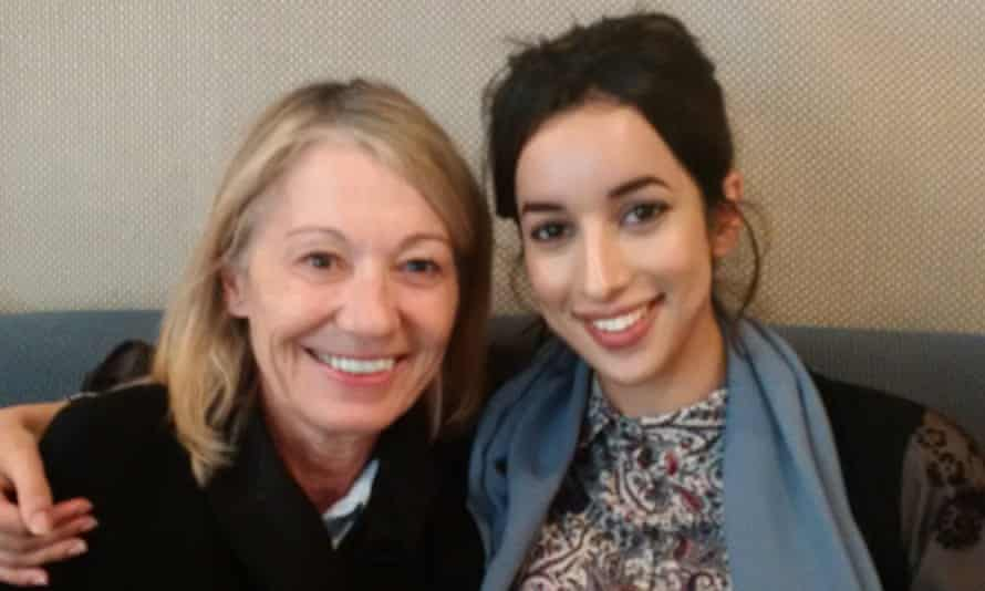 Amina al-Jeffery with her lawyer Anne-Marie Hutchinson in Jeddah.