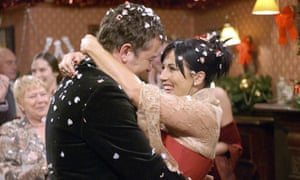 A break from tradition: both a happy Christmas and a wedding that didn't end in bloodshed … Kat and Alfie's big day in EastEnders.