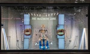 One of the Pat McGrath Labs window displays at Selfridges.