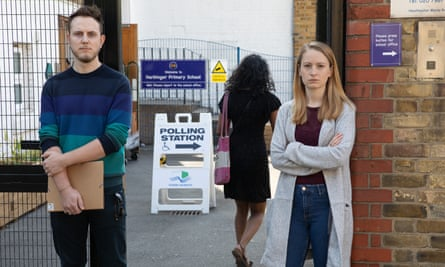 EU citizens Moritz Valero and Kat Sellner, who were turned away from a polling station in London, May 2019