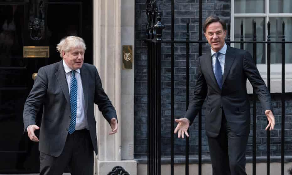 Boris Johnson and Mark Rutte.