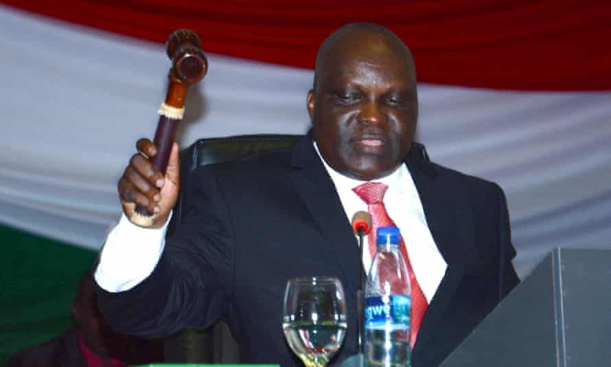 Pascal Nyabenda, president of Burundi's national assembly