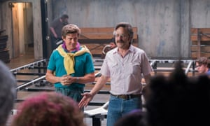 Marc Maron (right), plays Sam, the drugged up bandleader in Glow