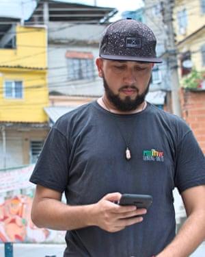 Leornardo Duarte, who uses live crime data to stay out of danger.