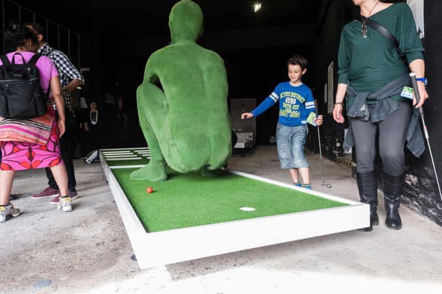 Art meets seaside sport and leisure … Hetain Patel's contribution to Doug Fishbone's Leisure Land Golf