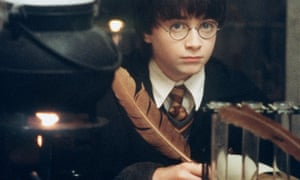 Daniel Radcliffe as Harry in class at Hogwarts.