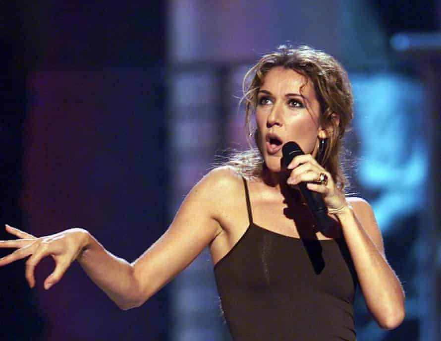 Céline Dion during the 1999 Billboard music awards