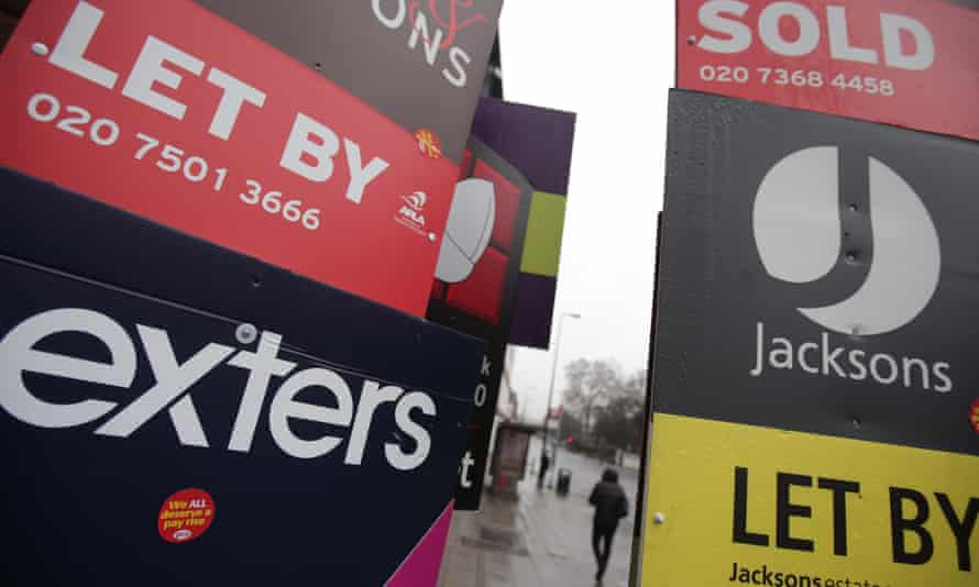 Estate agents To Let signs.