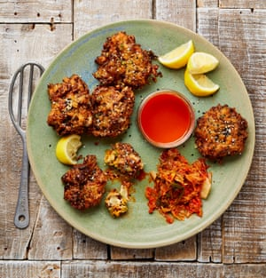 Yotam Ottolenghi's kimchi and gruyère rice fritters.