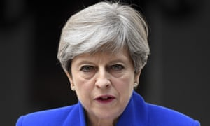 Theresa May speaks outside 10 Downing Street after the 2017 general election.