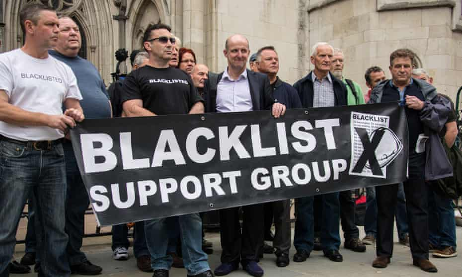 A protest by the Blacklist Support Group