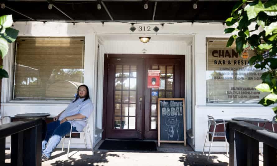 Alex Baez outside his parents' restaurant Chan Thai.