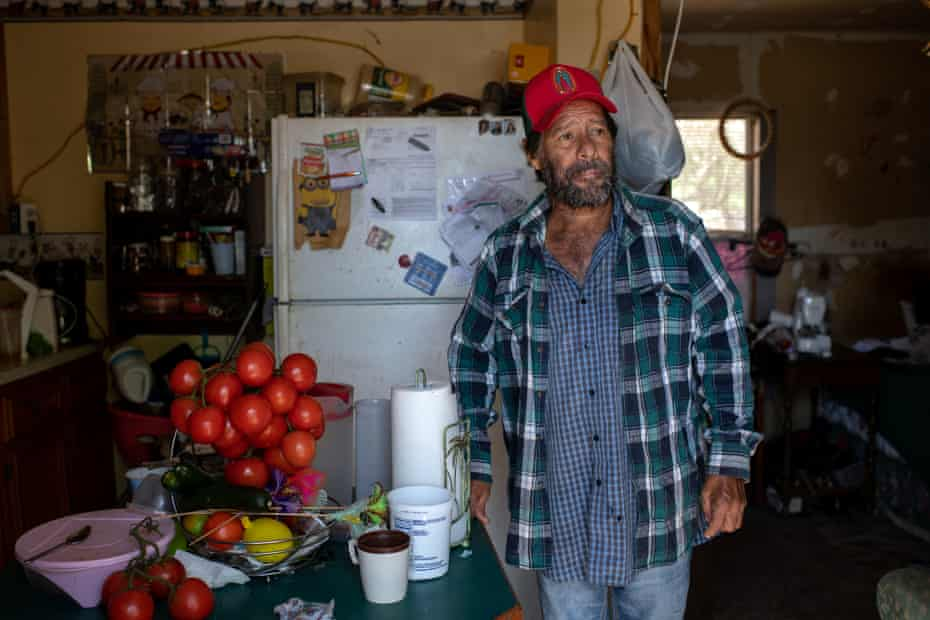 Roberto, shown at his home in the Rio Grande Valley, has been working in agriculture all his life, first in Mexico, then in the US.