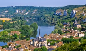 Les Andelys and the river Seine