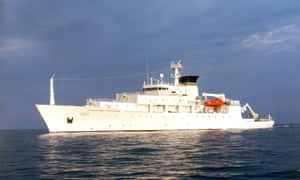 The US said the drone was being operated by civilian contractors collecting unclassified scientific data in international waters 'in full compliance with international law'