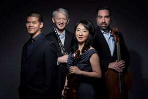 Winston Choi, J Lawrie Bloom, Yuan-Qing Yu and Kenneth Olsen – the Civitas Ensemble.
