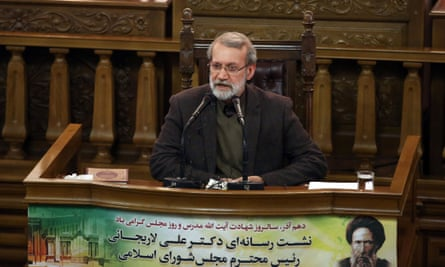 The speaker of the Iranian parliament, Ali Larijani, dared the EU states to 'go ahead'.