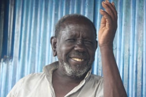 Kangogo Arap Kipotota lives in his shop after his home was flooded.