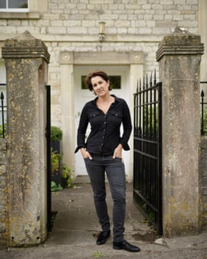 Jane Giddins outside her home in Newton St Loe
