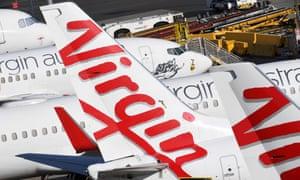 Grounded Virgin Australia planes