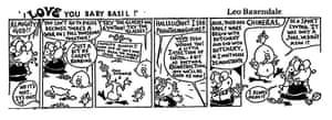 I Love You Baby Basil cartoon by Leo Baxendale, Guardian Weekend, 1991