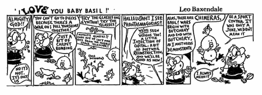 I Love You Baby Basil cartoon by Leo Baxendale, Guardian Weekend, 1991