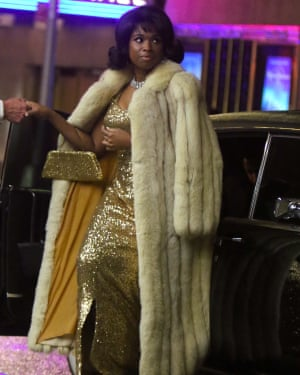 On the set of Respect, the Aretha Franklin biopic