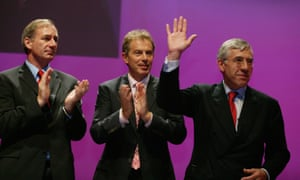 Geoff Hoon, Tony Blair and Jack Straw at the Labour party conference in 2003