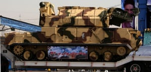 A Tor-M1 system displayed at a 2009 military parade in Tehran.