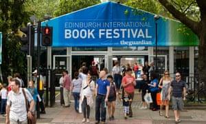 'Disruption in the gardens' … the 2012 Edinburgh international book festival.