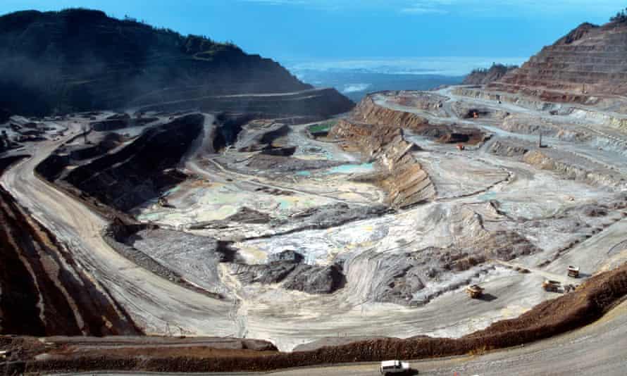 The Ok Tedi copper mine near Tabubil,